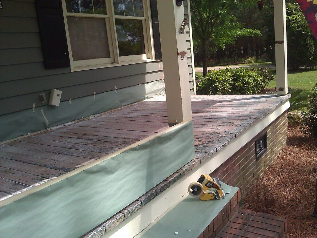 In Progress Deck Restoration in Hampstead, North Carolina by JHC.